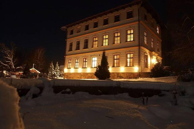noční foto-zima